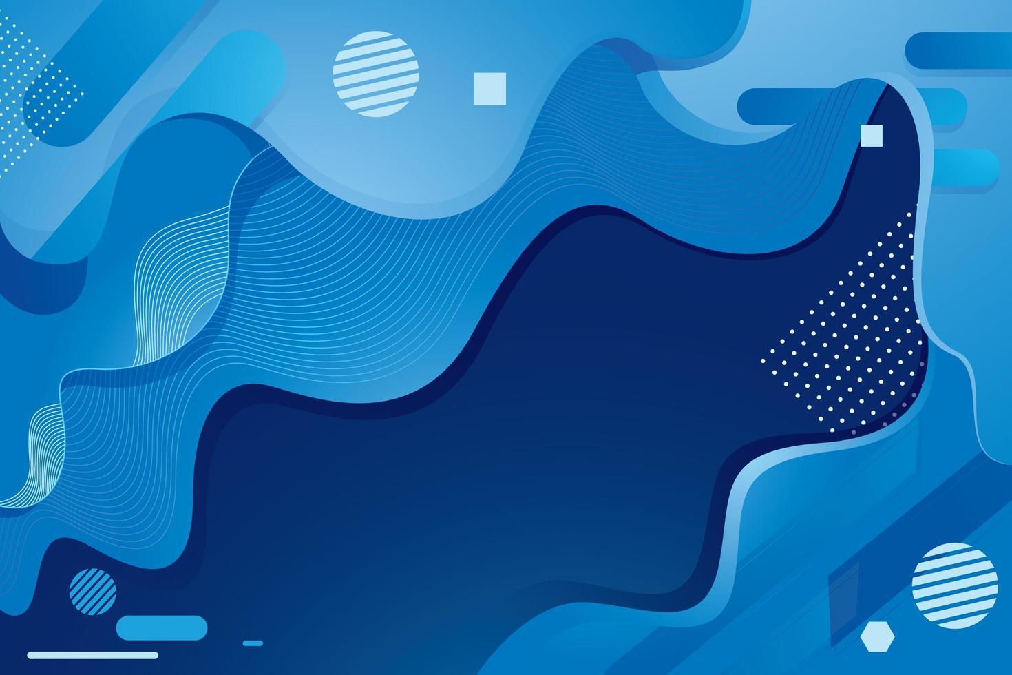 fond bleu abstrait fluide vecteur