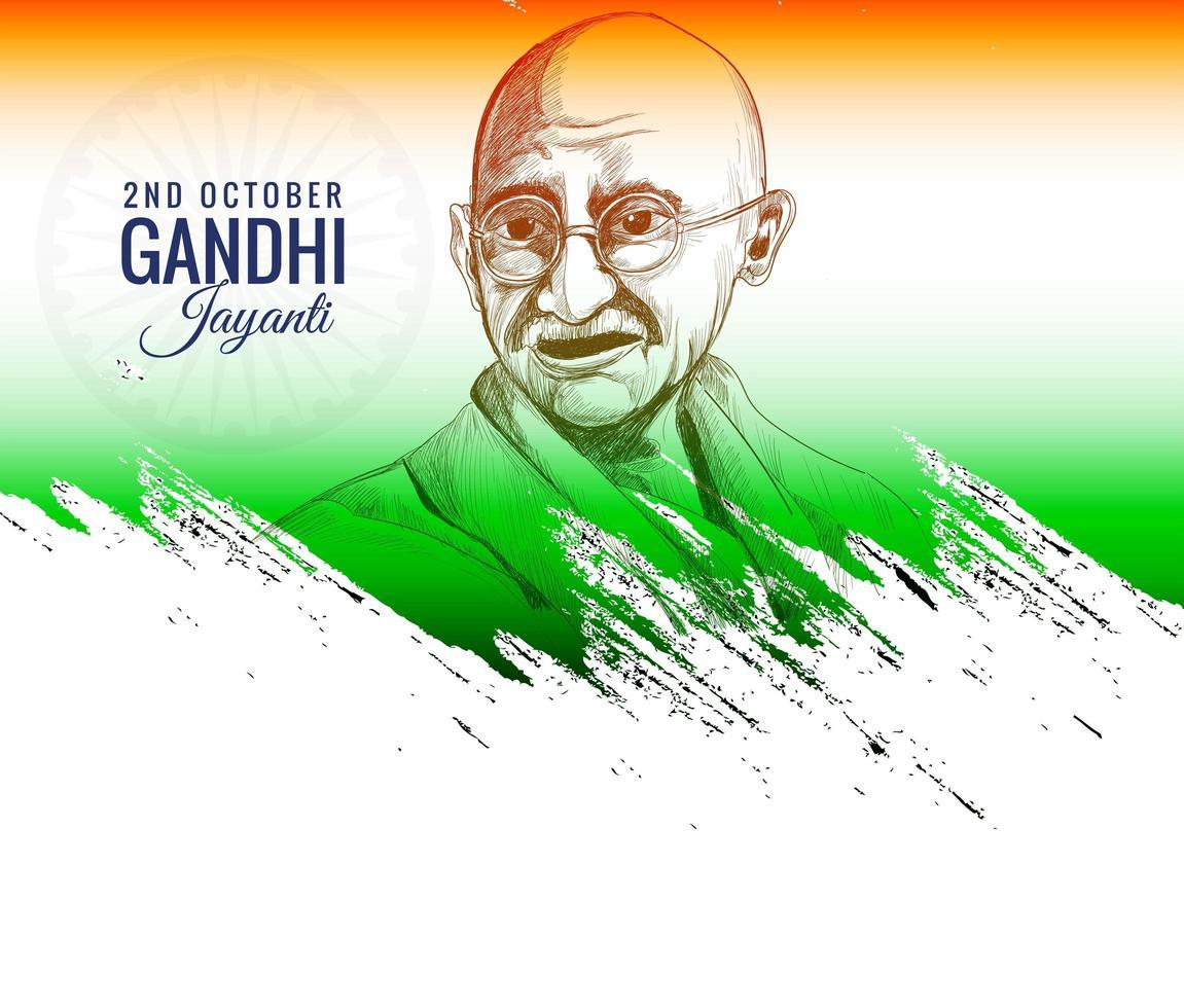 gandhi jayanti fond de célébration du 2 octobre vecteur