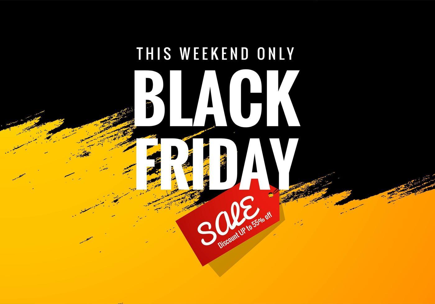 vendredi noir week-end vente bannière concept fond vecteur