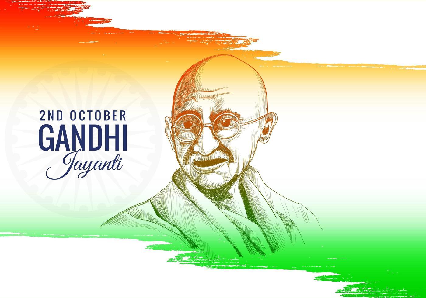 Gandhi jayanti célébré comme fond de fête nationale vecteur