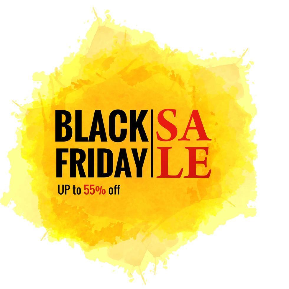 affiche de vente de concept vendredi noir sur fond de splash vecteur