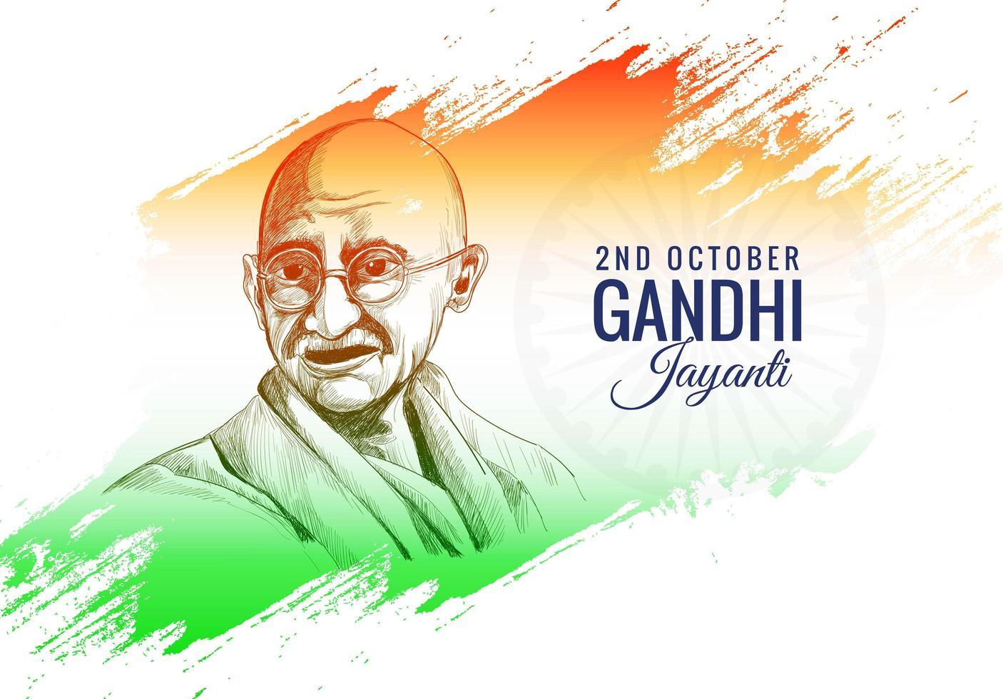 2 octobre gandhi jayanti affiche ou fond de bannière vecteur