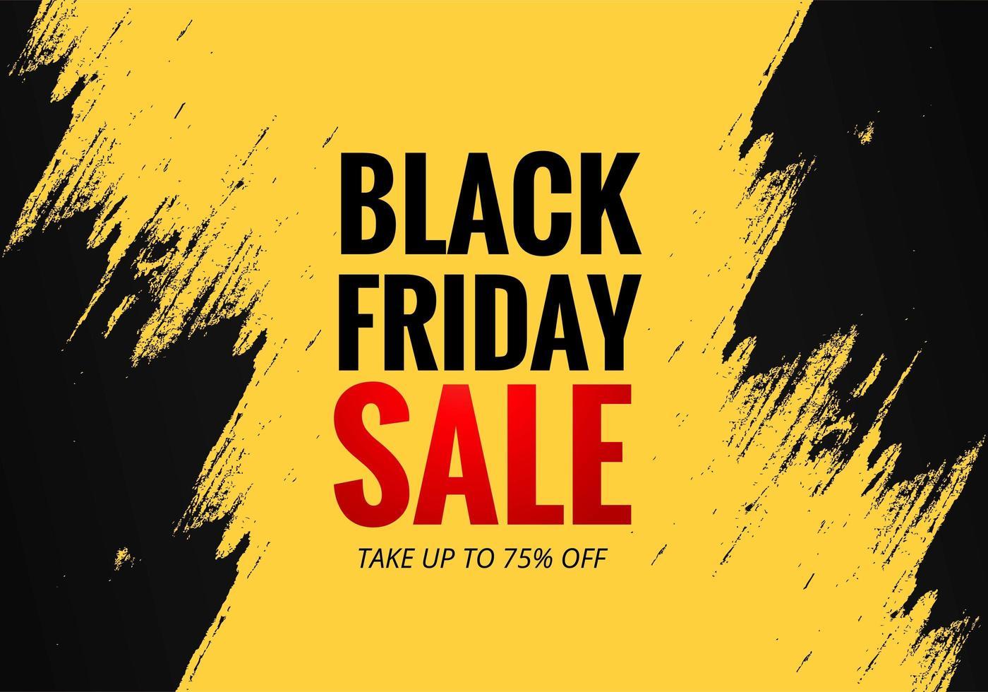 fond d'affiche de vente concept vendredi noir vecteur