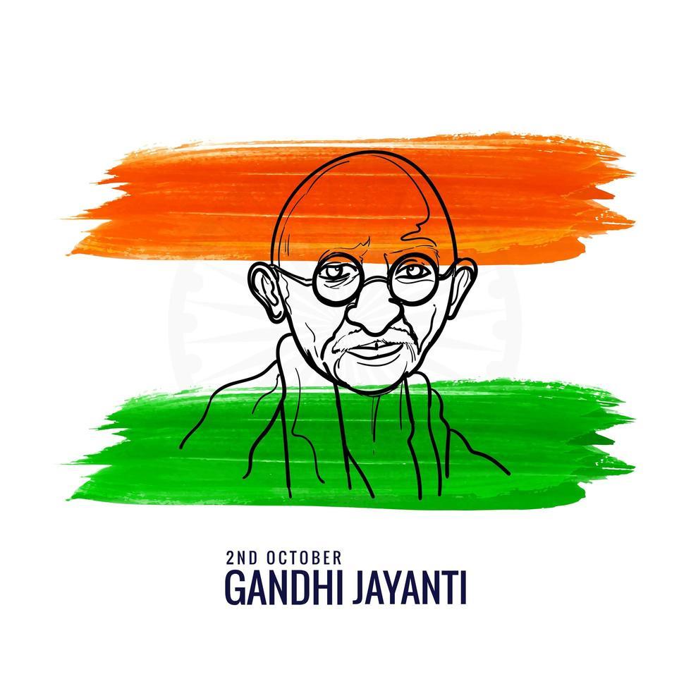 affiche du mahatma gandhi 2 octobre gandhi jayanti design vecteur