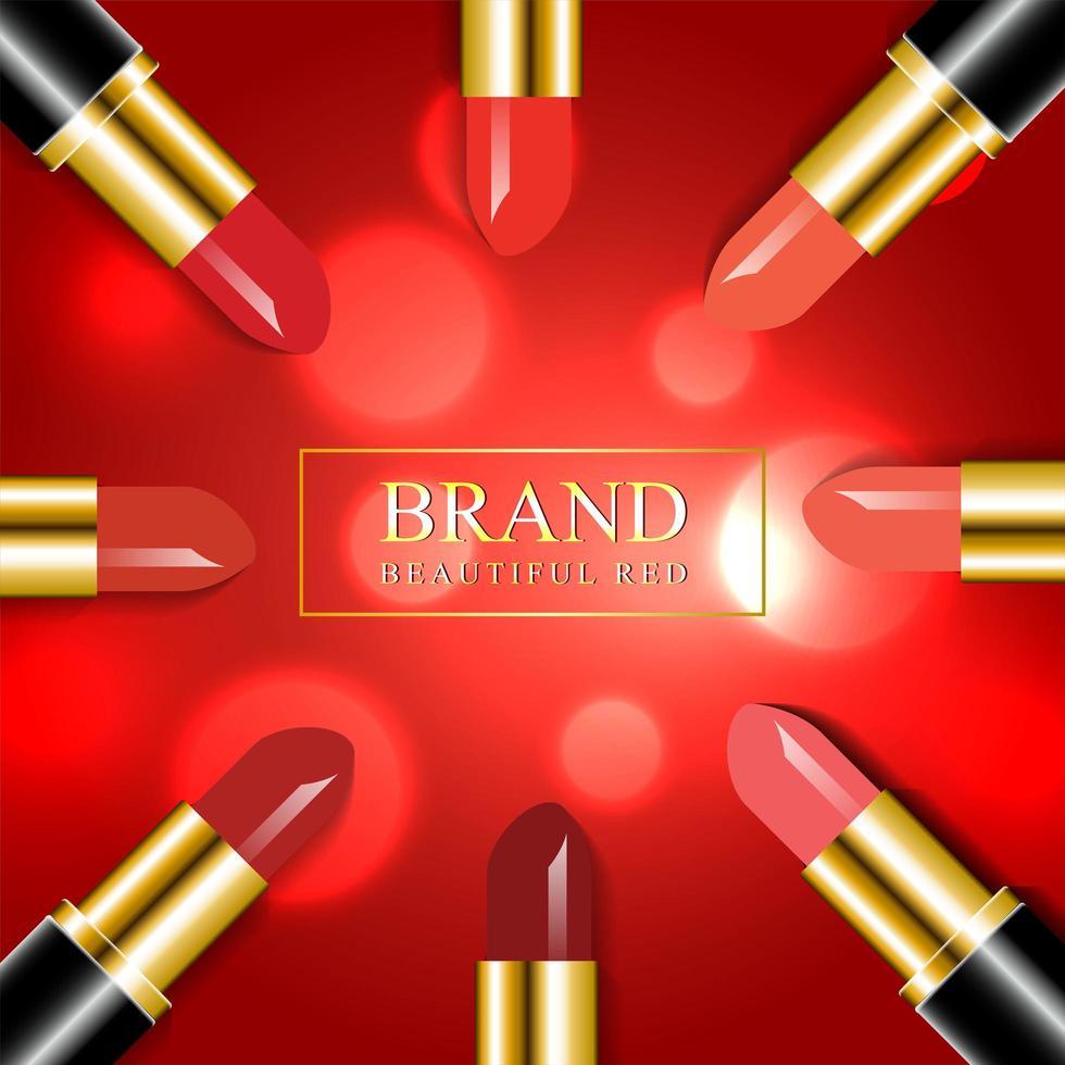 rouge à lèvres rouge de luxe vecteur