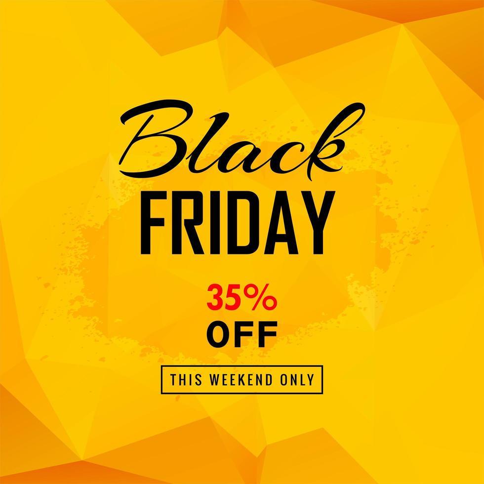 affiche de vente vendredi noir avec fond polygonale vecteur