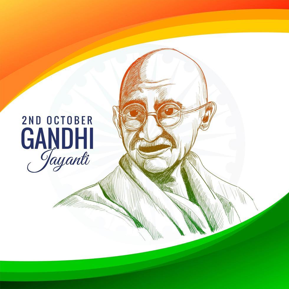 gandhi jayanti fête de vacances en Inde le 2 octobre vecteur