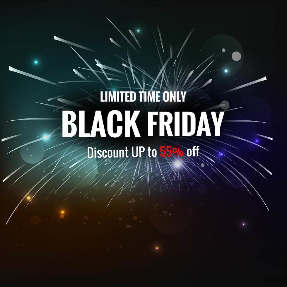 affiche de vente exclusive vendredi noir fond créatif vecteur