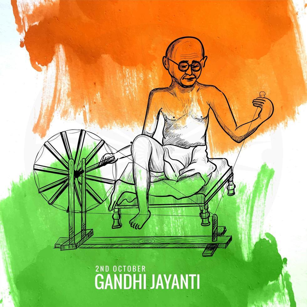 affiche créative pour gandhi jayanti ou fête du 2 octobre vecteur