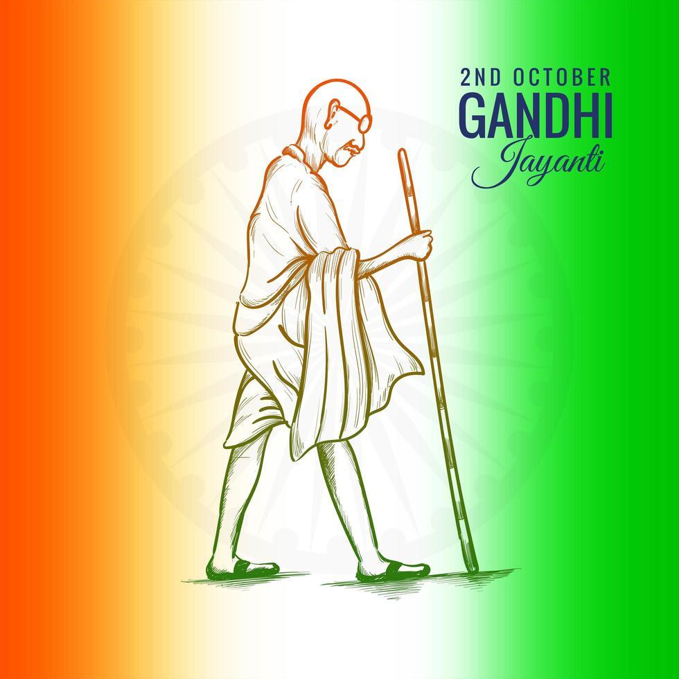 2 octobre gandhi jayanti pour fond d'affiche créative vecteur