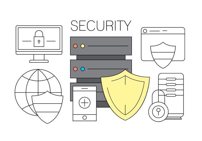 Icônes de sécurité en ligne gratuites vecteur