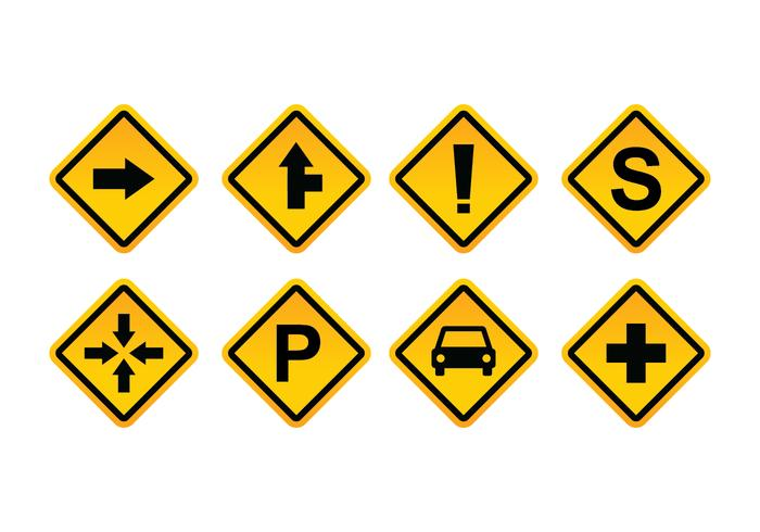 Pack Vector Vector Road Sign