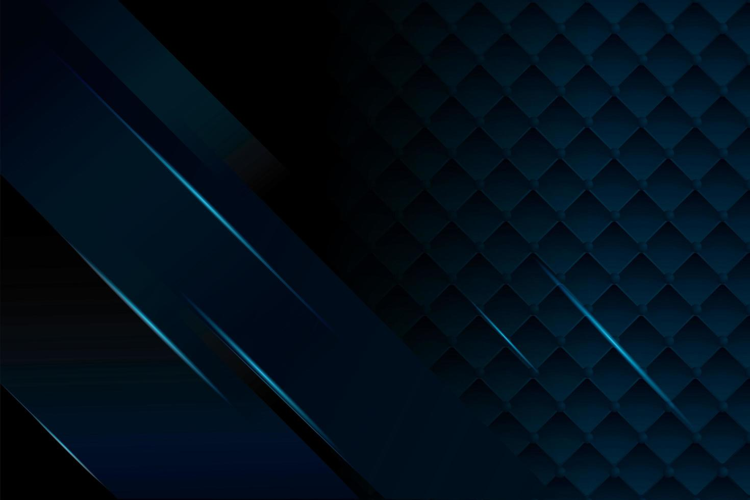 élégant fond noir et bleu foncé vecteur