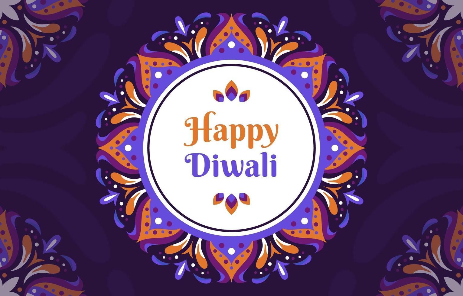 Rangoli d'inspiration florale pour diwali vecteur