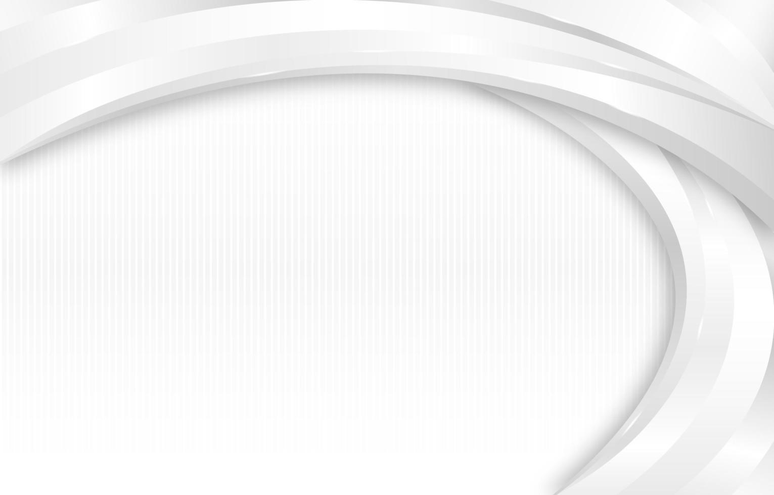 fond de courbe élégante blanche vecteur