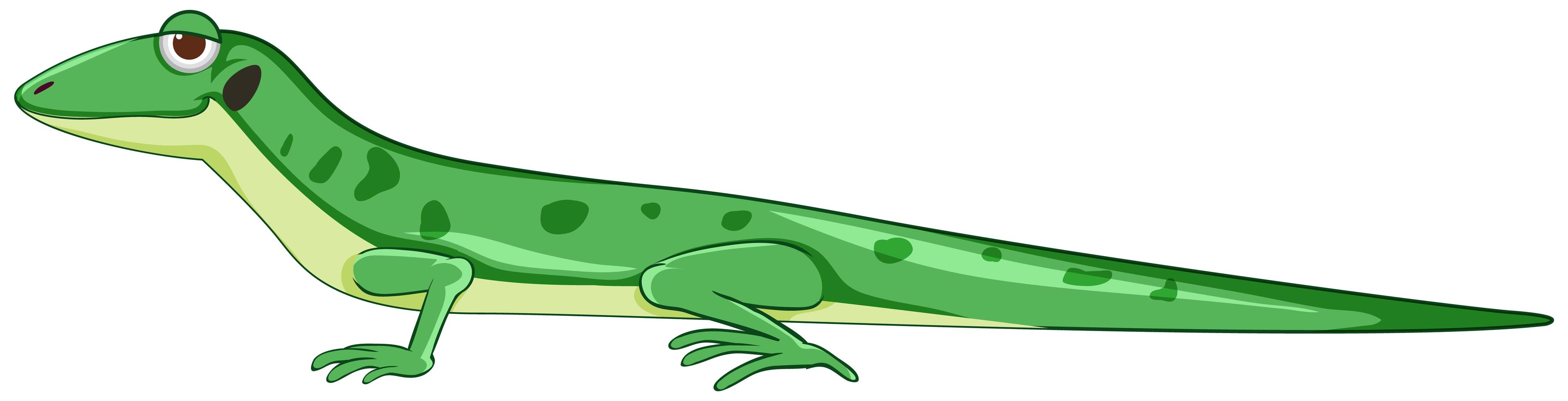 gecko ou lézard de style dessin animé vecteur