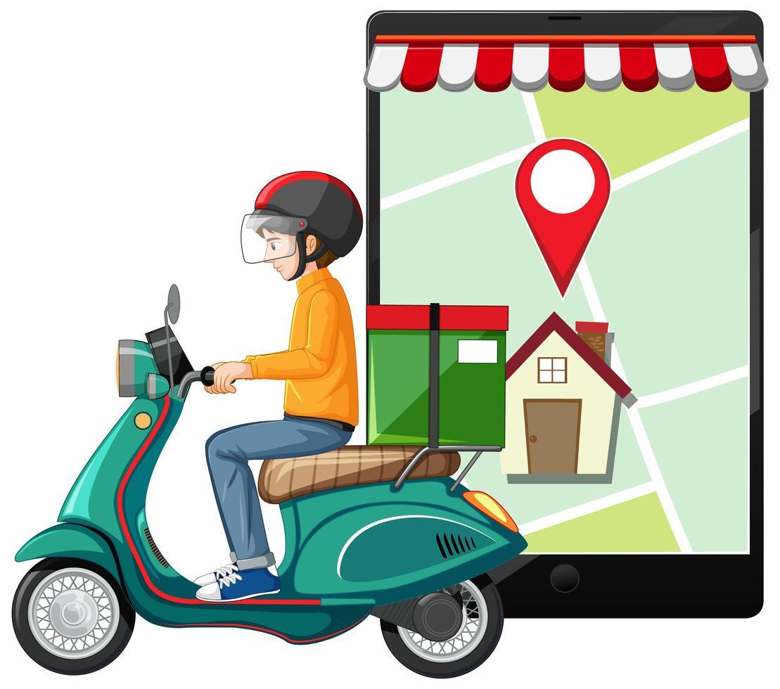 conception de concept de livraison de courrier vecteur