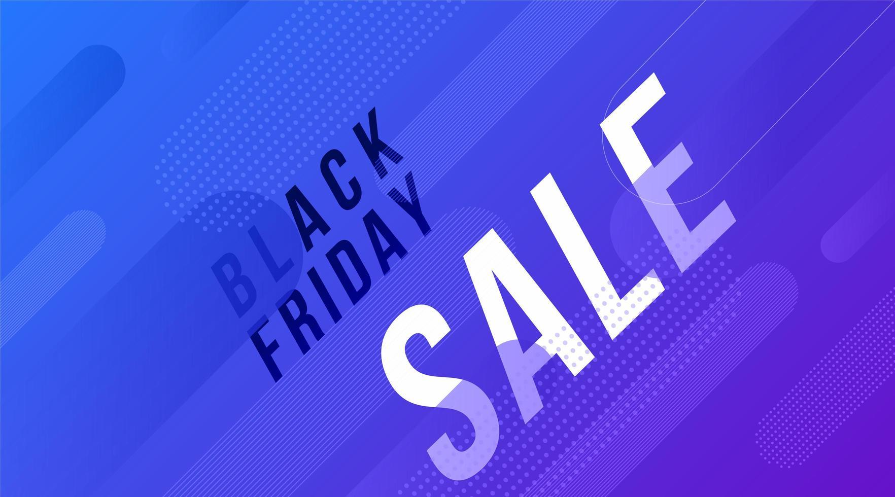 conception de bannière de vente de formes bleu vendredi noir vecteur