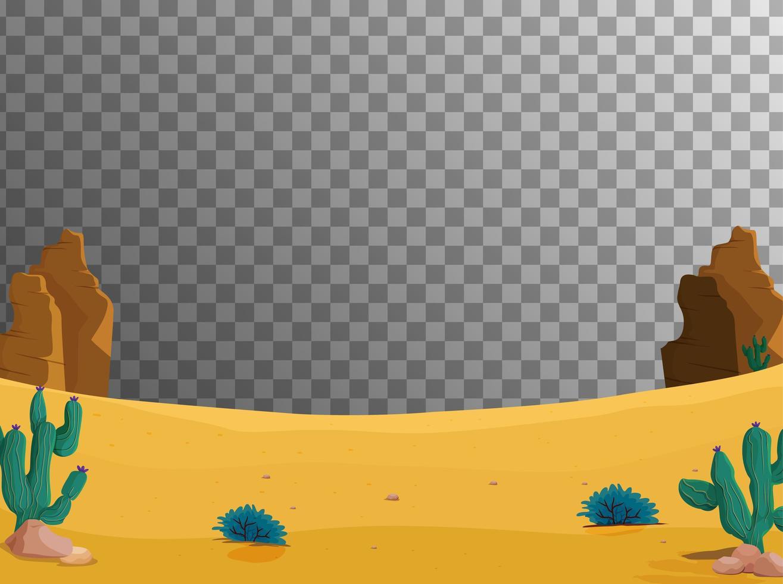 fond de scène au sol du désert vecteur