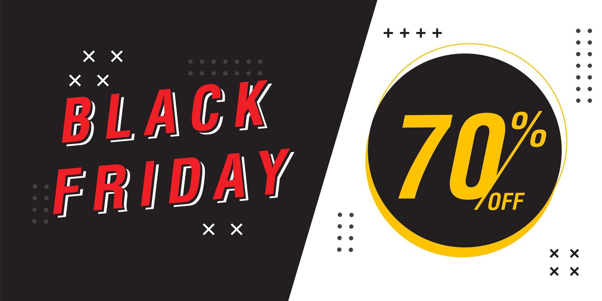 modèle de conception de bannière de vente vendredi noir vecteur