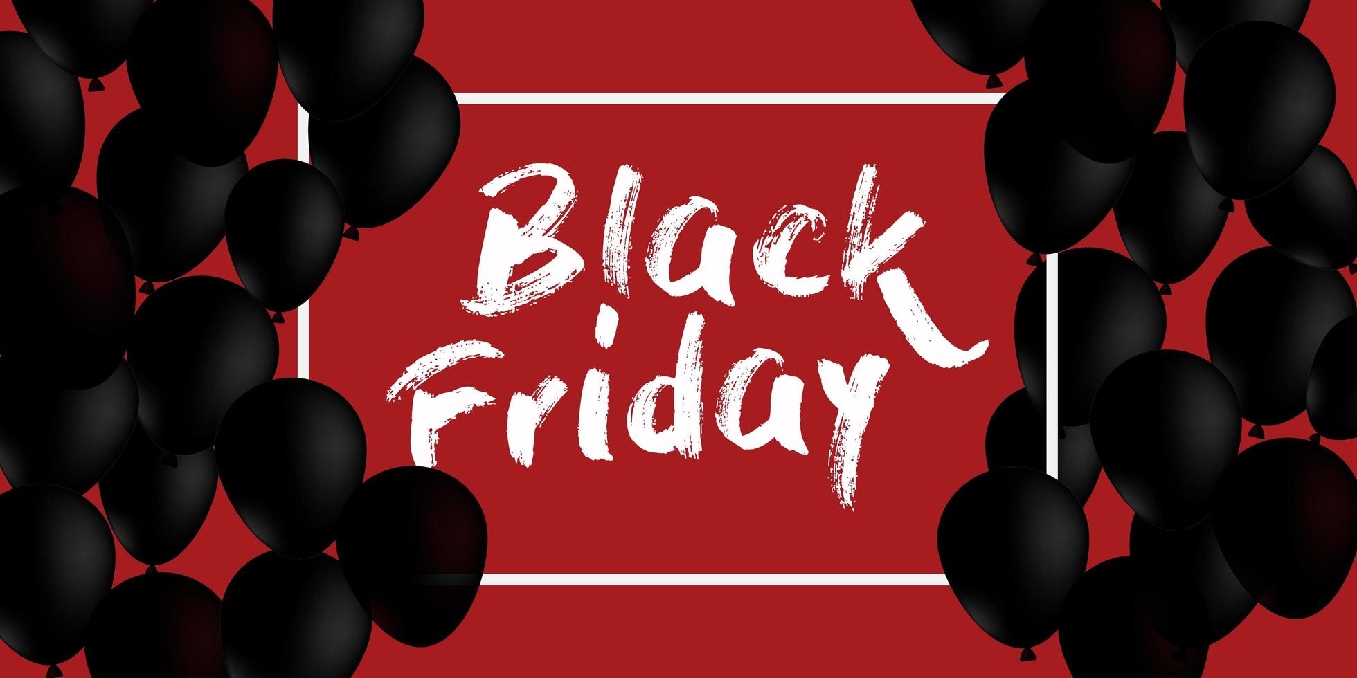 conception de bannière de vente vendredi noir vecteur