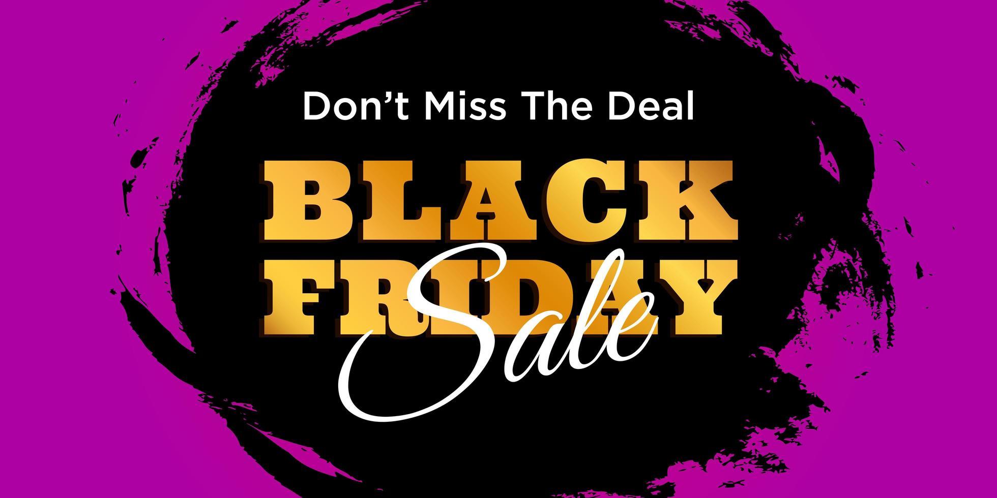 bannière de vente vendredi noir vecteur