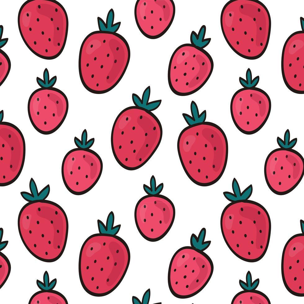 fond transparent aux fraises vecteur