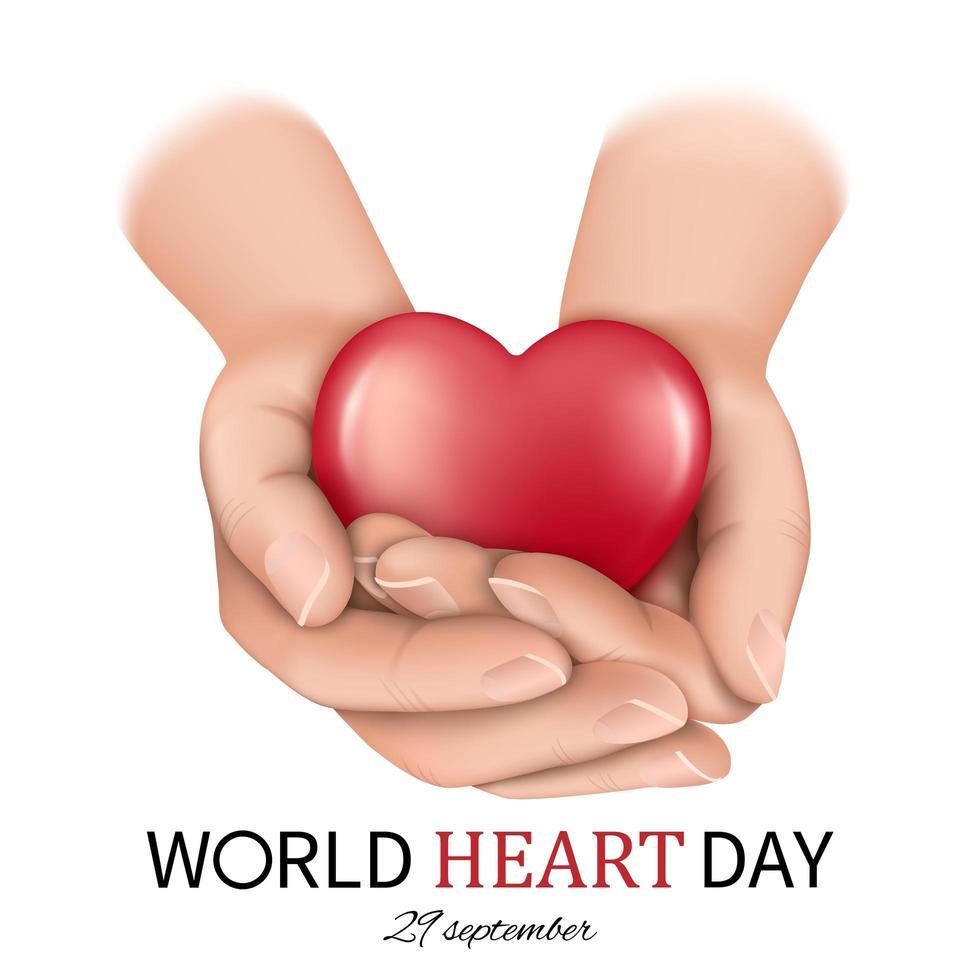 bannière de la journée mondiale du cœur vecteur