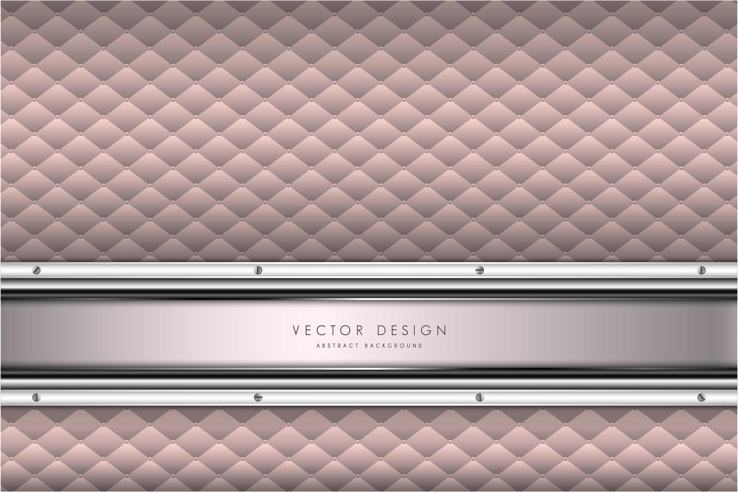 texture rose élégante avec rembourrage. vecteur