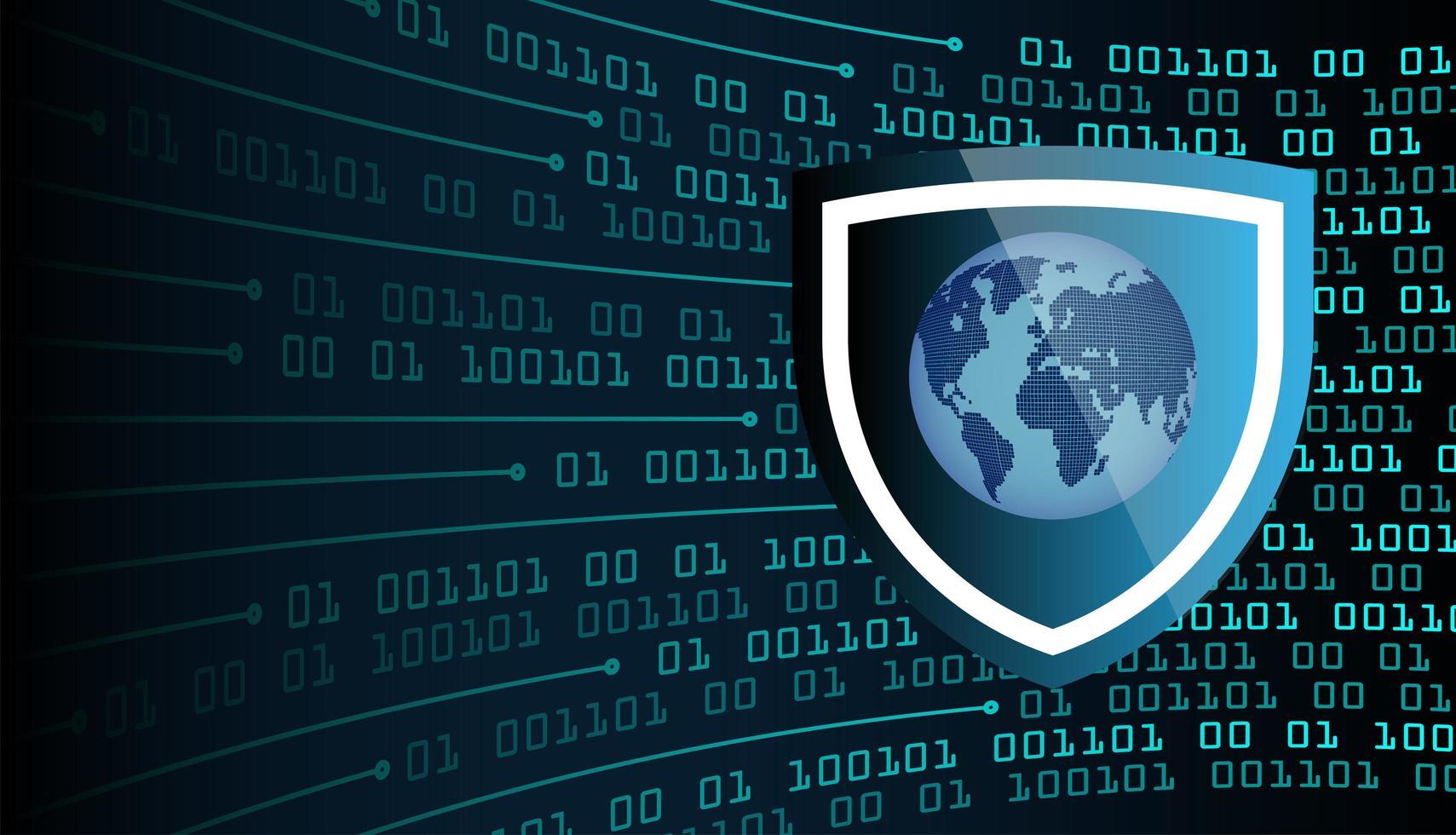 concept technologique futur du circuit cyber du monde bleu vecteur