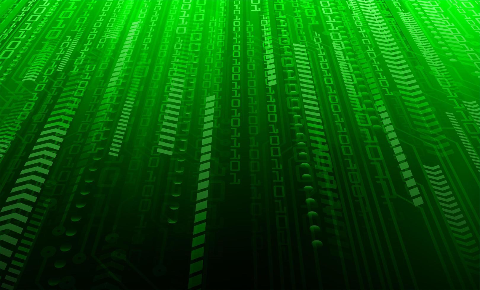 fond de concept de sécurité binaire vert vecteur