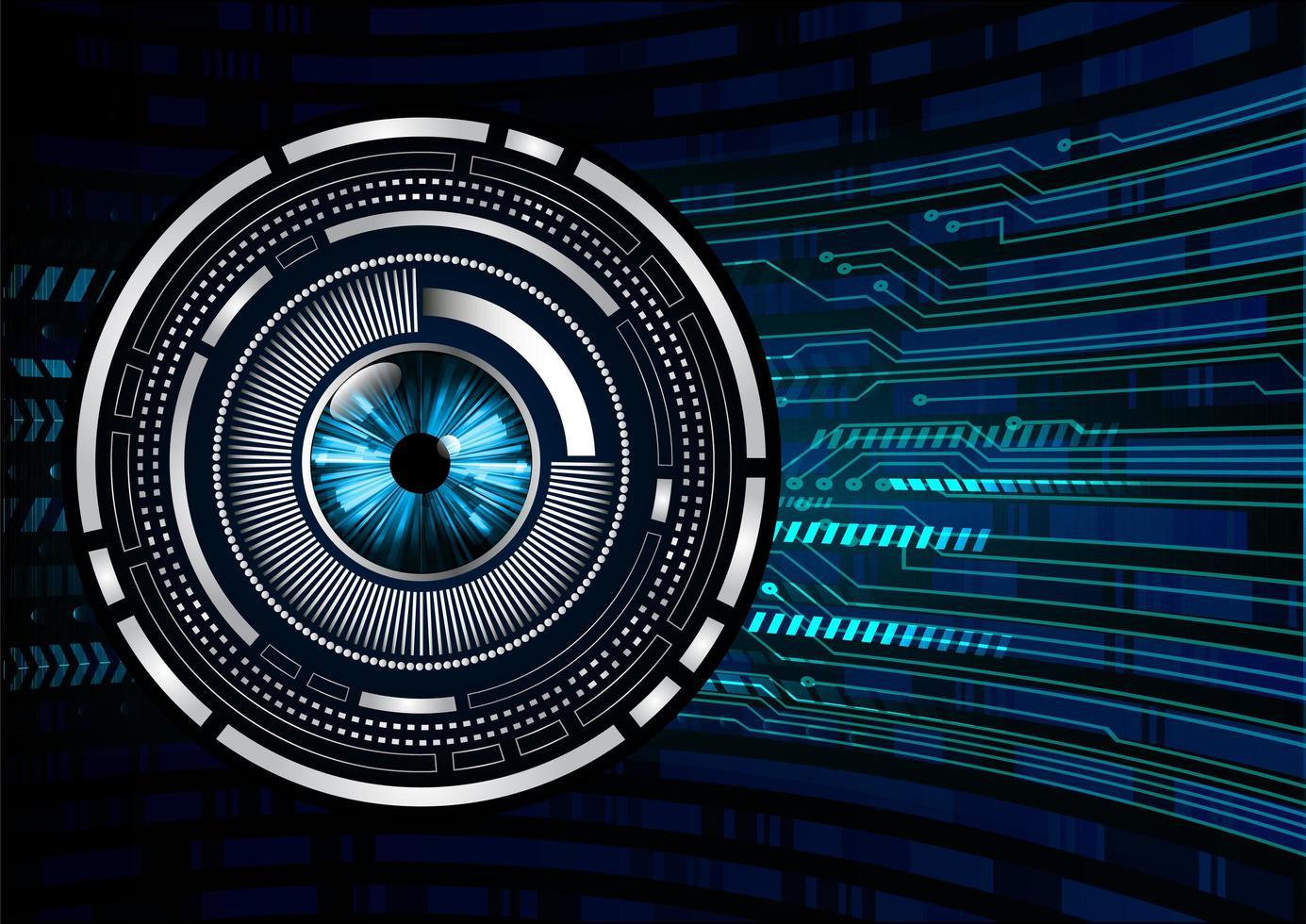 fond de concept futur tech circuit oeil bleu vecteur