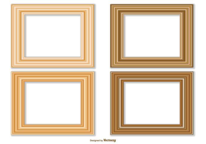 Collection élégante de cadre vectoriel