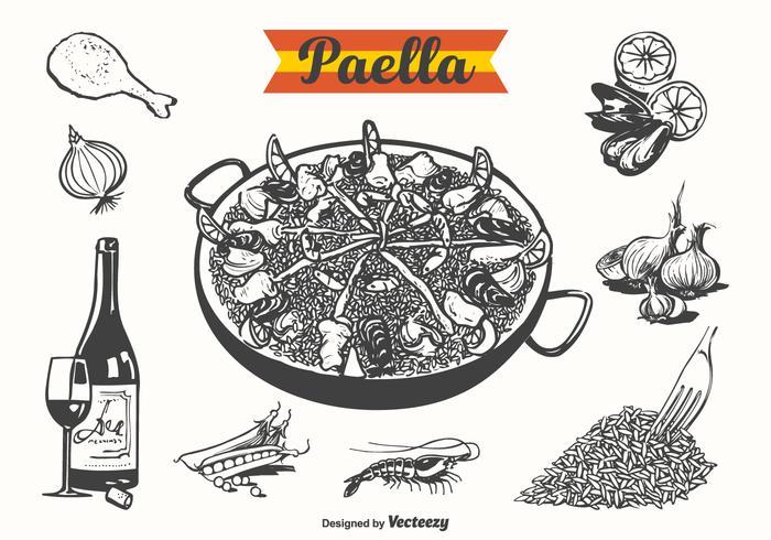 Illustration vectorielle gratuite Paella vecteur
