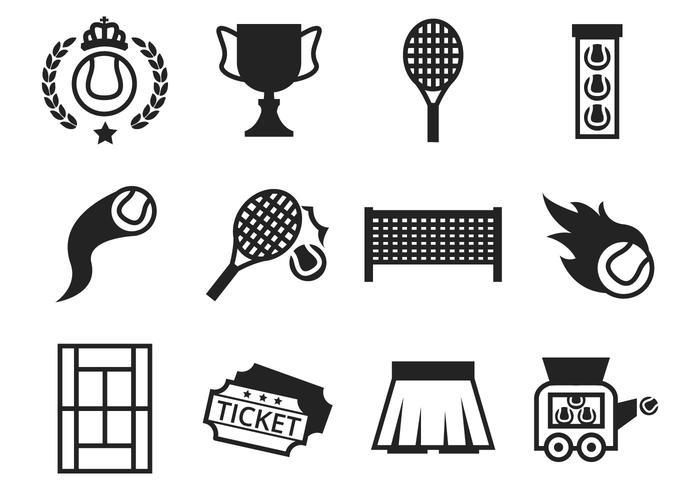 Vecteur d'icônes de tennis gratuit
