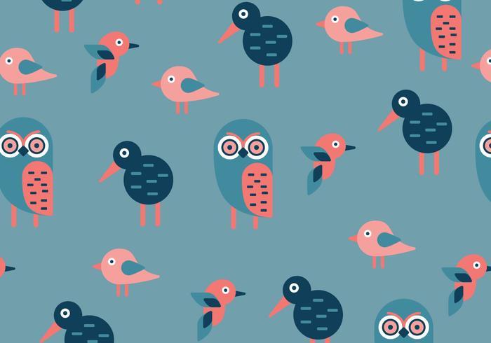 Modèle d'oiseaux géométriques vecteur