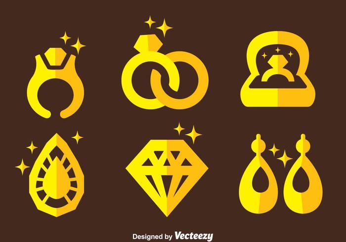 Vector d'icônes de bijoux