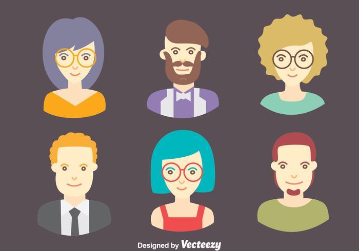 Ensemble vectoriel de collection de personnages Avatar
