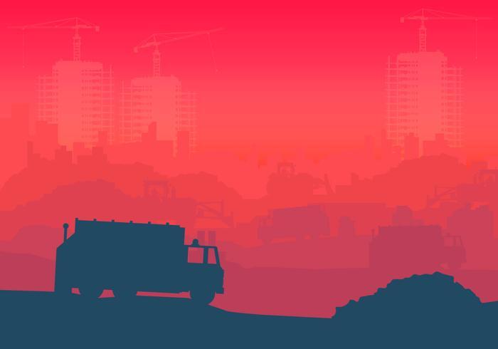 Illustration industrielle d'enfouissement vecteur