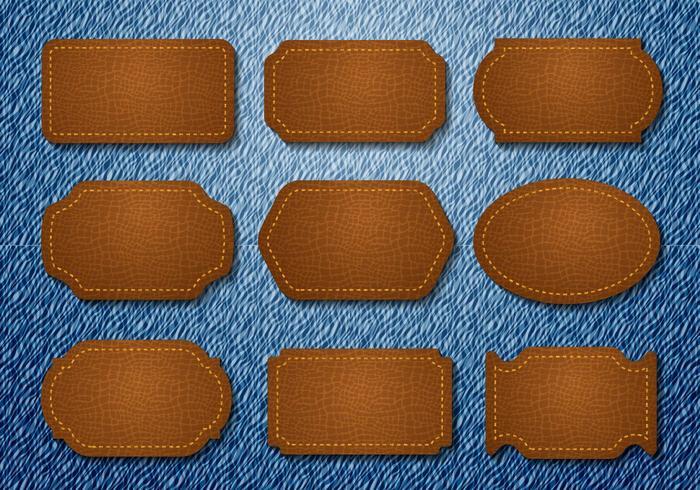 Vecteur de jeans en cuir gratuit