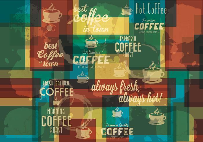 Vecteur de café en couches