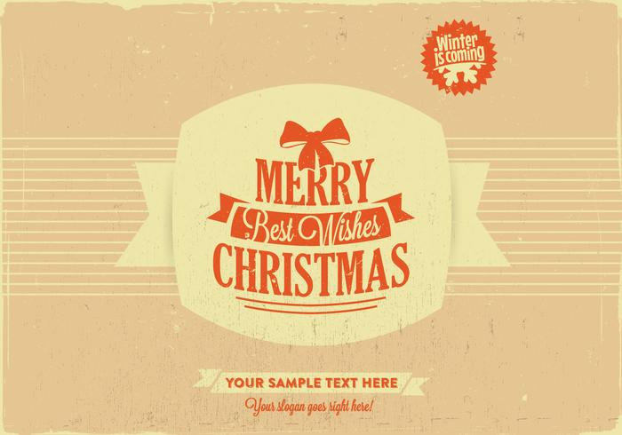 Merry Christmas & Best Wishes Vector