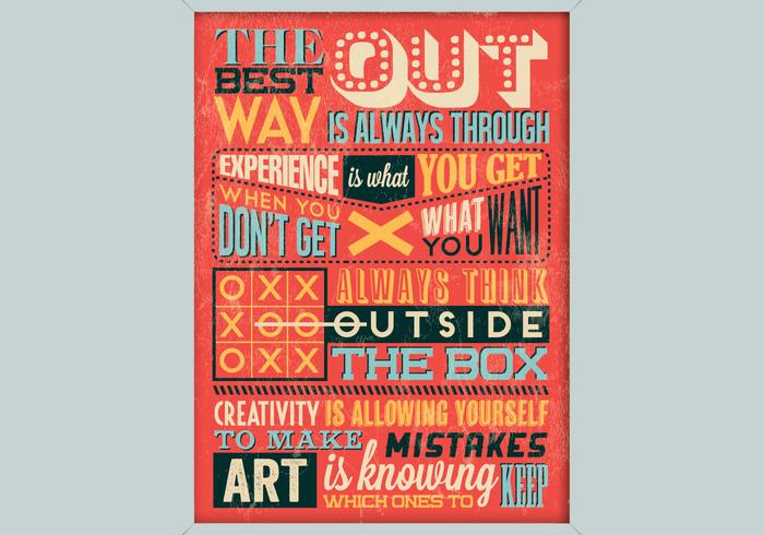 Affiche inspirée de la créativité vecteur