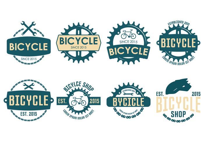 Étiquette vintage à vélo vecteur