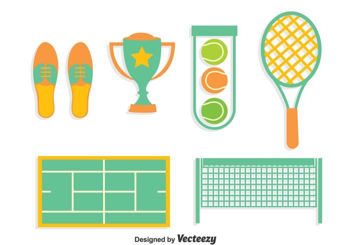 Vecteur de collection d'éléments de tennis