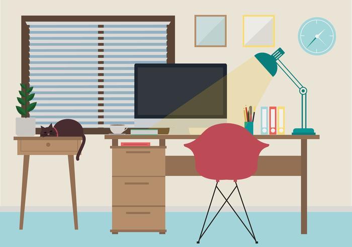 Illustration de l'espace de travail vectoriel