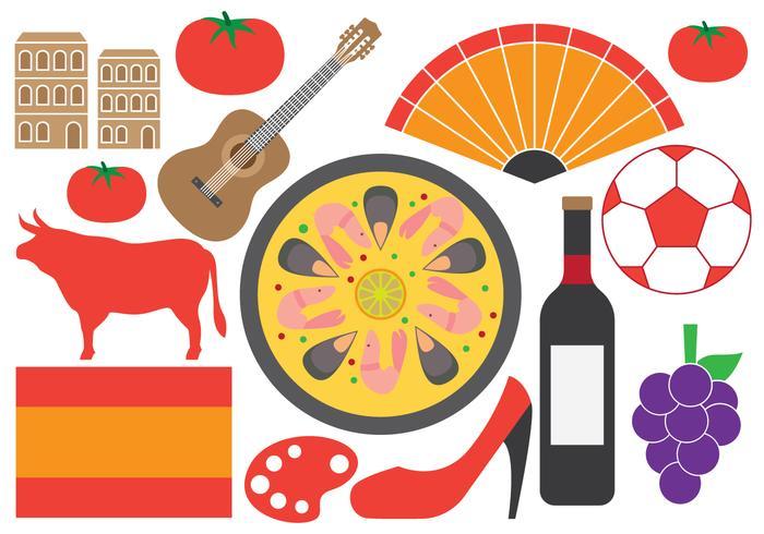 Symboles espagnols vecteur