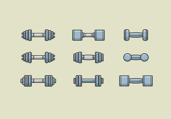Icônes des vecteurs Dumbell vecteur