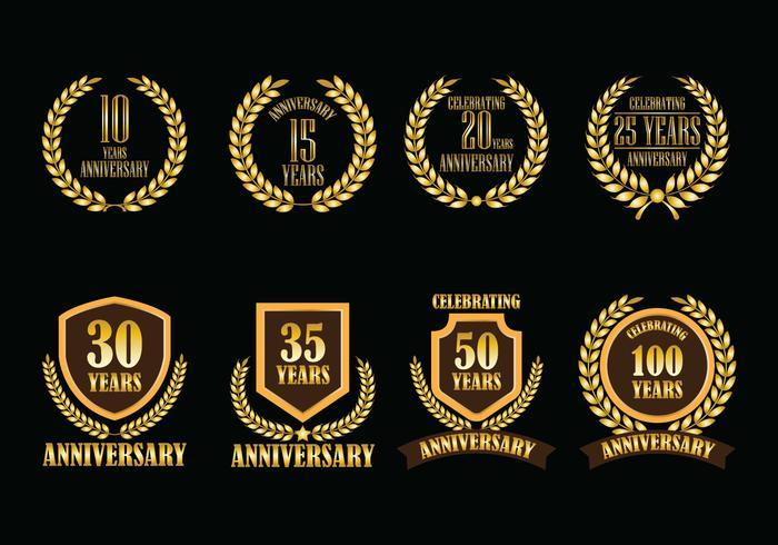 Badges de vecteur anniversaire