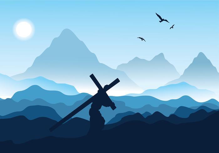 Jour libre de la Semaine sainte Vector gratuit
